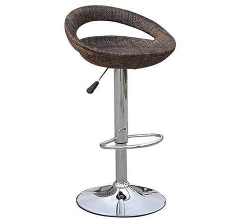swivel wicker bar stools homcom modern adjustable rattan swivel bar stool 2 pk