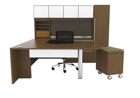 cherryman u shaped desk with arc end office furniture