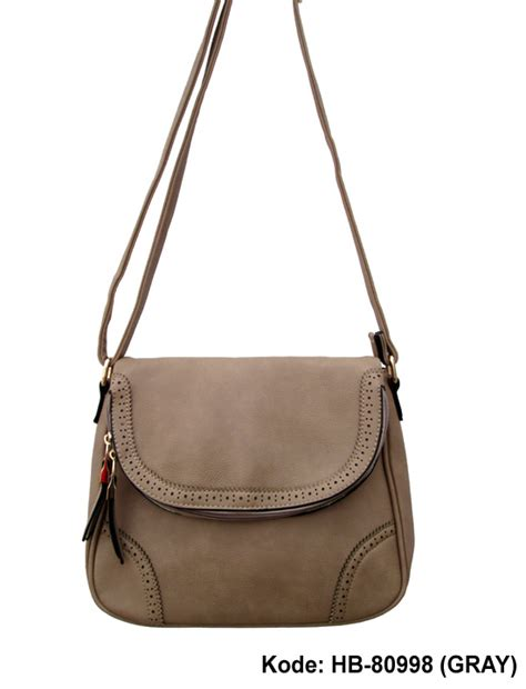 Tas Cantik Wanita Bag Sa 006 seri tutup aplikasi emboss herbosa fashion bags
