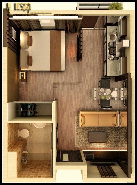 Small Apartment Living by Studio Apartment Floor Plans