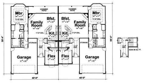 side by side duplex house plans side by side duplex house plans pinterest