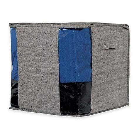 How To Weave A Cube - arrow weave storage cube bag in grey bed bath beyond
