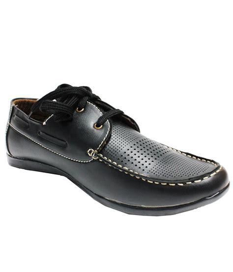 buy real choice stylish matt black semi casual shoe for