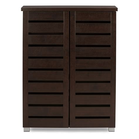 1000 images about shoe cabinets with doors on madeira shelves and wood storage baxton studio adalwin modern and contemporary 2 door brown wooden entryway shoes storage