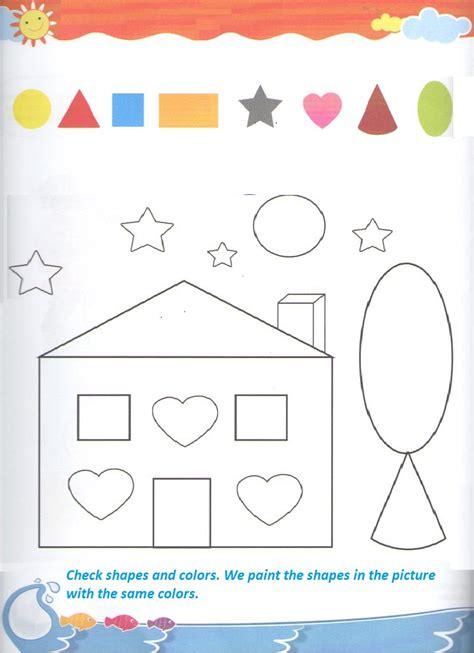 shapes worksheets for kindergarten shape coloring worksheet for kindergarten and preschool