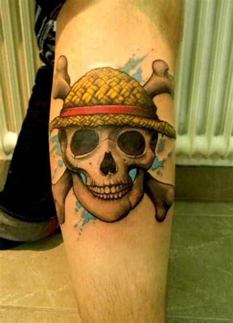 one piece tattoo straw hat strawhat pirate skull one piece tattoo