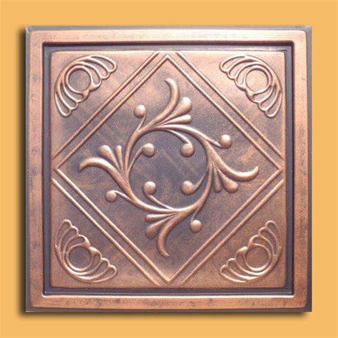 24 quot x24 quot anet antique copper black pvc 20mil ceiling tiles antique ceilings glue up ceiling