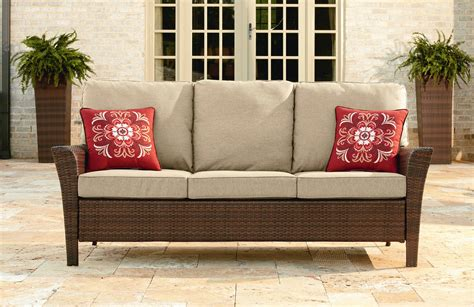 ty pennington outdoor furniture ty pennington style parkside 3 seat sofa outdoor living patio furniture benches sofas