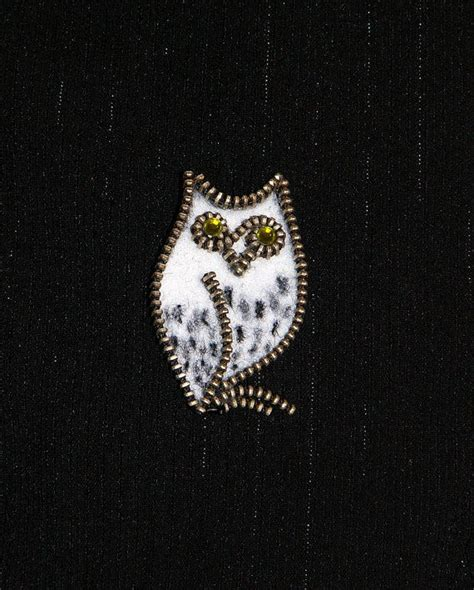 Top Zipper Owl Berkualitas 465 best images about joyas cremalleras on brooches fashion weeks and zipper crafts