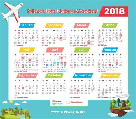 Kalender 2018 Beserta Cuti Kalender 2018 Indonesia Beserta Liburan Kejepit A
