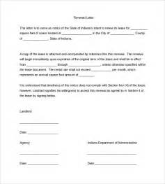 sle lease renewal letter 9 free documents