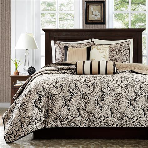 madison park coverlet madison park aubrey 6 piece quilted coverlet set ebay