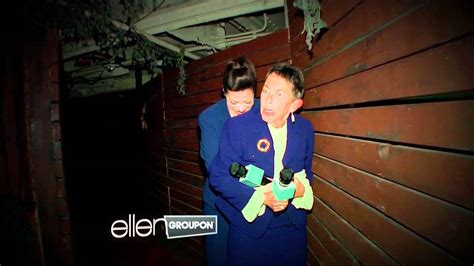 ellen sends amy to haunted house ellen halloween haunted house photo album ellen degeneres pushed modern family eric