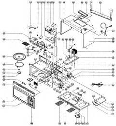 total assy diagram parts list for model mco165uw magic chef parts microwave parts