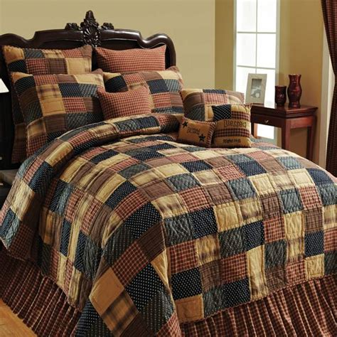 Country Patchwork Quilts For Sale - shop vhc brands patriotic patch quilt covers the home