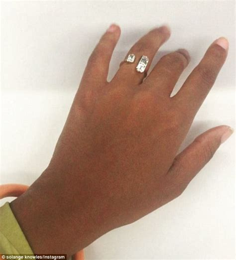 wedding ring daily solange knowles tweets message from after losing