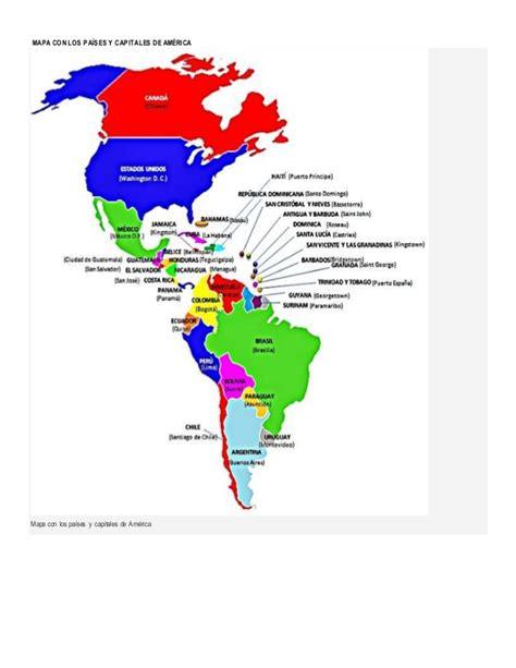 mapa politico de america con todos los paises pa 237 ses y capitales de am 233 rica