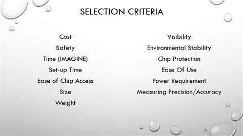 design selection criteria edge
