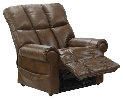 Bonded Leather Recliners by Stallworth Chestnut Bonded Leather Power Lift Recliner