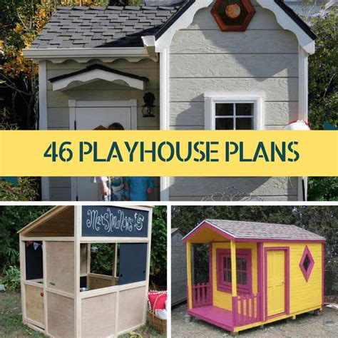 free play house plans 46 free diy kids playhouse plans the self sufficient