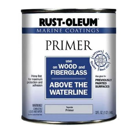 rust oleum 1 qt marine coatings primer for wood and fiberglass discontinued 182705 the home depot