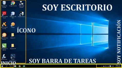 imagenes de windows 10 y sus partes partes del escritorio de windows