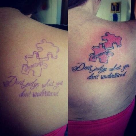 tattoos that go together puzzle pieces for a sibling each puzzle fits