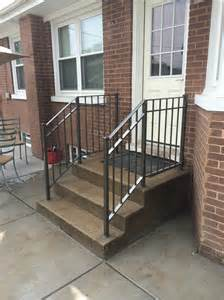 outdoor banister railing chicago wrought iron railings handrails contractor