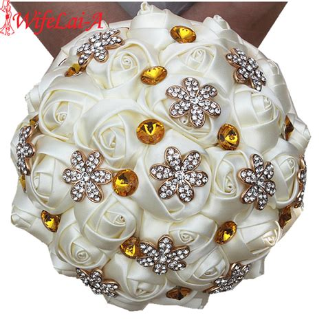 Discount Wedding Bouquets by Big Discount Best Quality Ivory Flowers Wedding Bouquets