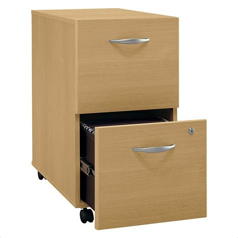 bush series c 2 drawer vertal mobile wood file light oak