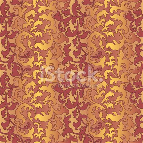 gold rose pattern 8319 seamless ornate leaves pattern rose gold rose pink stock