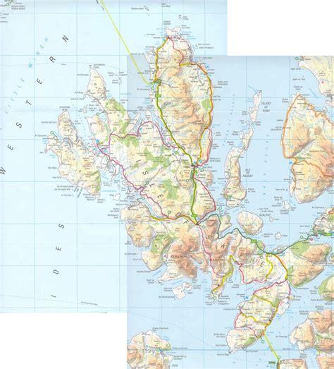 printable map skye a trek through skye introduction