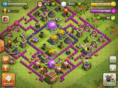 layout coc th8 coc level 8 defence car interior design