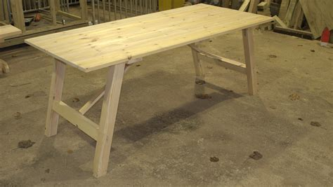 Kitchen Island Cart With Granite Top by Redwood Trestle Table The Wooden Workshop Oakford Devon