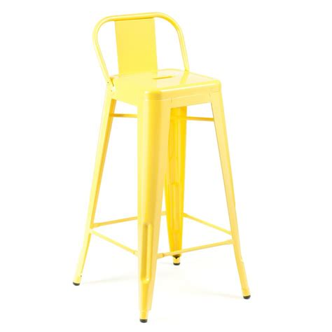 What Does A Yellow Stool by Yellow 75cm Stool Low Back Rest Cult Uk