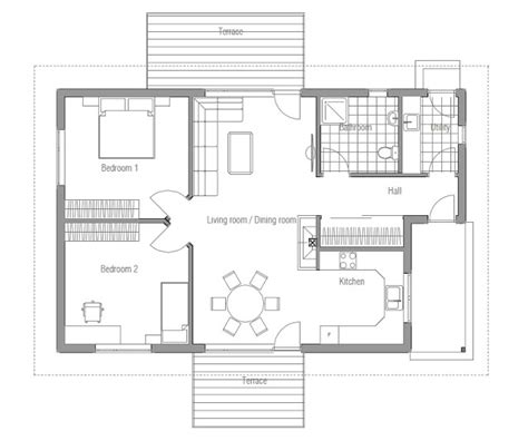 inexpensive floor plans affordable home plans affordable home plan ch93