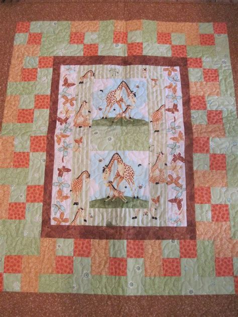 Giraffe Baby Quilt by Giraffe Handmade Quilt For Baby Or By