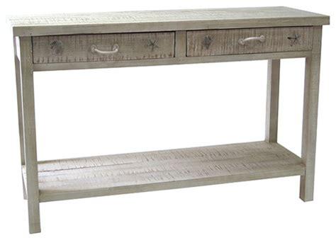 Coastal Console Table seaside white coastal console table style