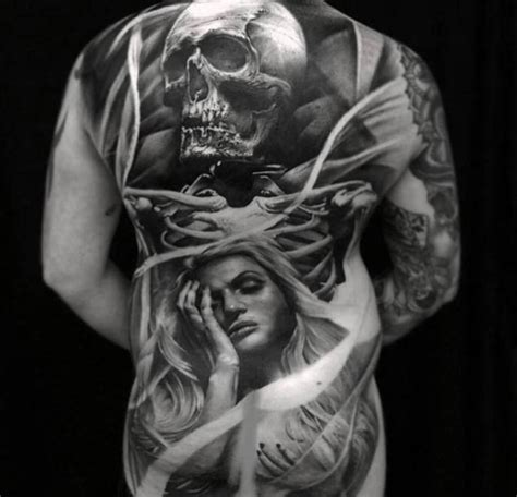 black and grey back tattoos 31 breathtaking full back tattoo designs tattooblend