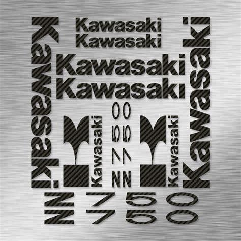 Sticker Origine Kawasaki by Kit Autocollants Kawasaki Z750 Stickers Moto