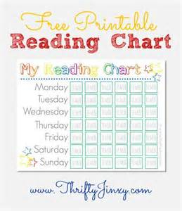free printable reading chart thrifty jinxy