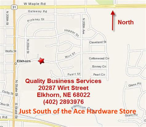ace hardware elkhorn map to quality business services