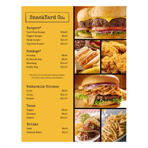 exles of restaurant menus layout 35 exles of menu design psd ai vector eps