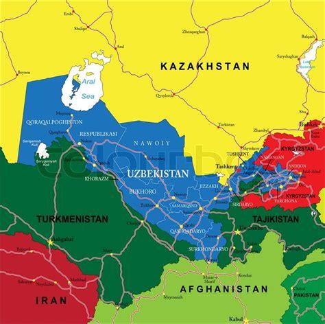 usbekistan regionen karte usbekistan regionen karte