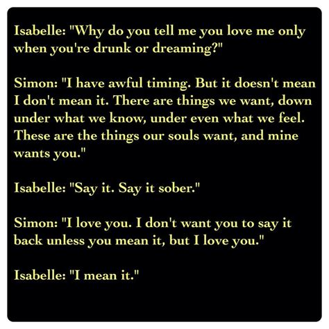 vire academy quotes isabelle lightwood and simon lewis city of heavenly