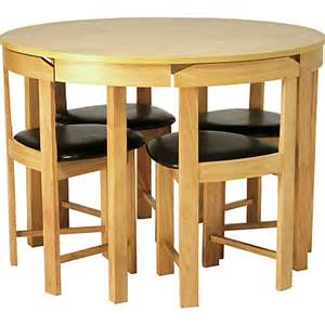 Homebase Dining Table And Chairs Hygena Alena Oak Circular Dining Table And 4 Chairs