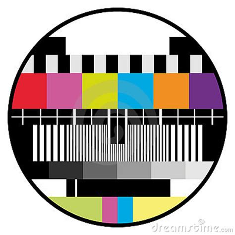 test pattern vector tv color test royalty free stock photography image 9636397