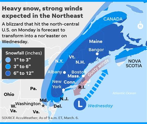 nor easter to hit east coast with heavy snow strong winds