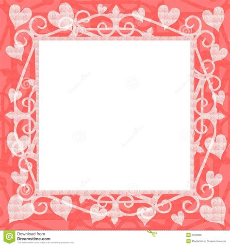 light pink hearts square frame royalty free stock image