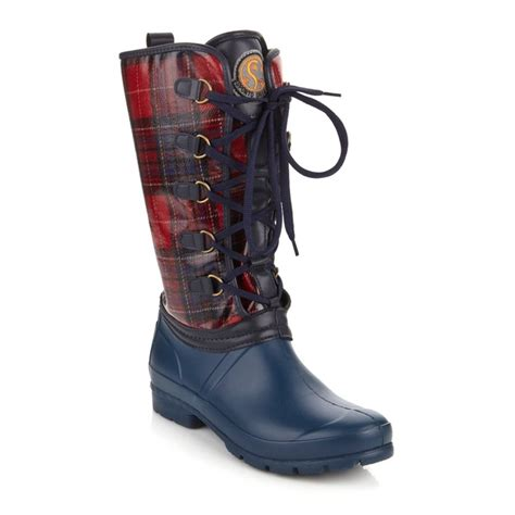 hsn sporto boots sporto 174 plaid boot at hsn walk with any of